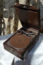 HMV 101J Brown  table top gramophone with soundbox No. 4 - VGC  RARE