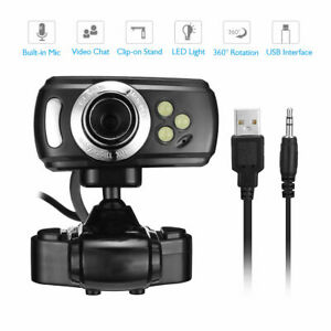 USB Webcam 1080P HD Camera with mic for HP Dell Toshiba sony computer pc desktop