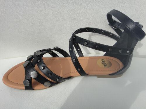 Buffalo Sandalette Sandale schwarz Nieten neu Gr 37 38 39 40 41
