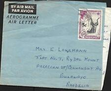 SWAZILAND AIR LETTER, TO BULAWAYO RHODESIA, FROM DAUGHTER TO HER MOTHER,