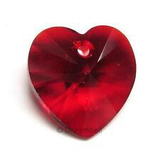 Swarovski Elements Crystal  Xilion 6228 Heart Charm Pendant Siam 18mm