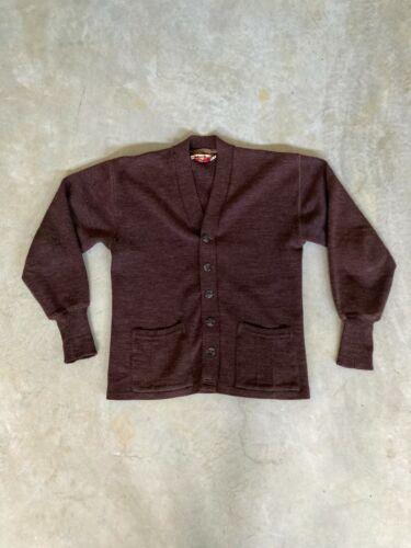 Vintage Men's 1950s Wool Cardigan (Small/Medium, B