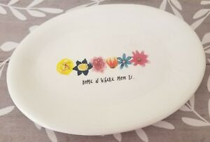 NEW-2-Rae-Dunn-by-Magenta-HOME-IS-WHERE-MOM-IS-Oval-Plates-Fall-Home-Decor