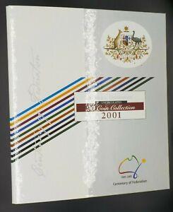2001-Australia-Centenary-of-Federation-20-coin-UNC-Set-in-Folder-RAM