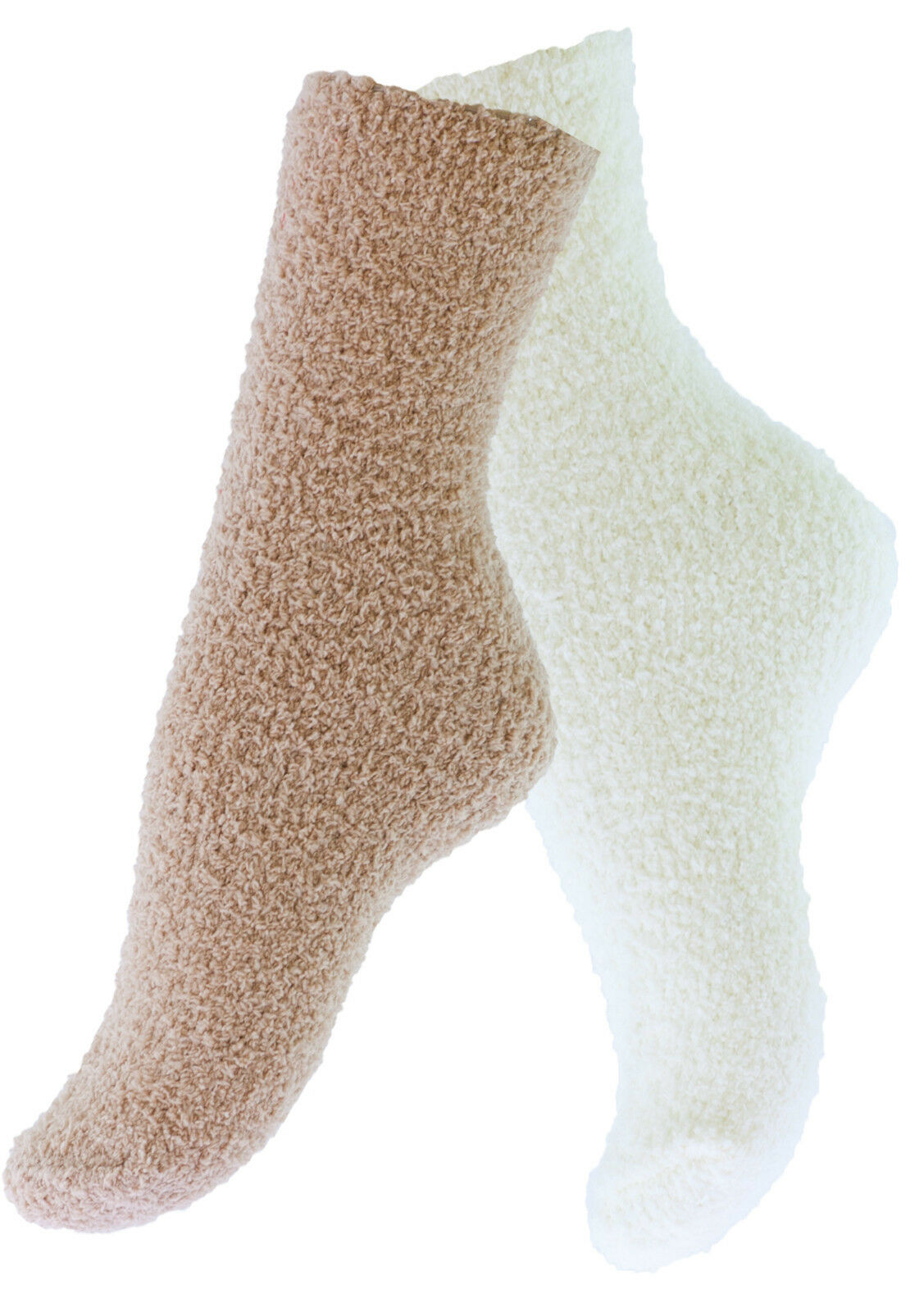 2 oder 4 Paar Kuschelsocken Plüschsocken Damen Mädchen Socken Wintersocken