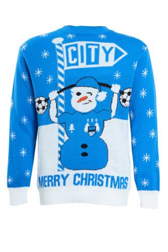 Mens Christmas Xmas Jumper Sweater Novelty Football Jumpers Ugly Pullover Santa
