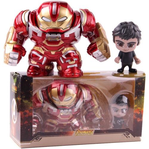 2 Pcs//Set Avengers Infinity War Cosbaby Hulkbuster Bruce Banner PVC Figure Model