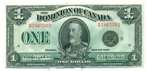 1923-The-Dominion-of-Canada-1-Bank-Note-D2863302-CH-UNC-DC25N