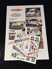 DECALS 1/24 TOYOTA COROLLA LOEB RALLYE TOUR DE CORSE 2000 WRC RALLY HASEGAWA