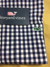 "NWT Vineyard Vines Mens ""Slim Fit"" Tucker Shirt Long Sleeve Blue Check / XS"