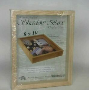 Genuine Wood Shadow Box Display Case Made in the USA