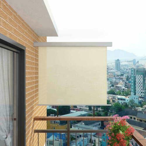Außenrollo Senkrechtmarkise Sichtschutz Sonnenschutz Markise Balkon 2 Größe