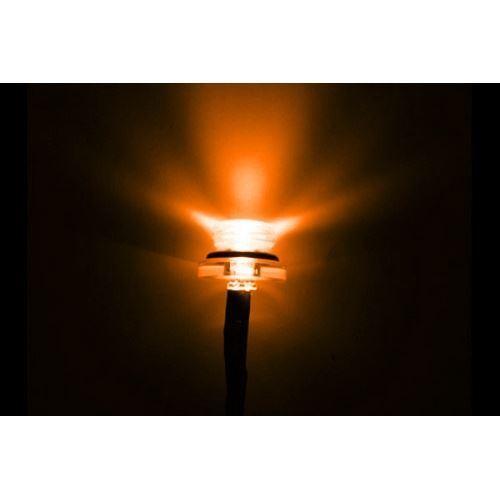 Pré-Câblé ultra lumineuse simple 5 mm Orange DEL