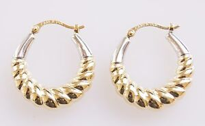 14k-White-and-Yellow-Gold-Twist-Hoop-Earring