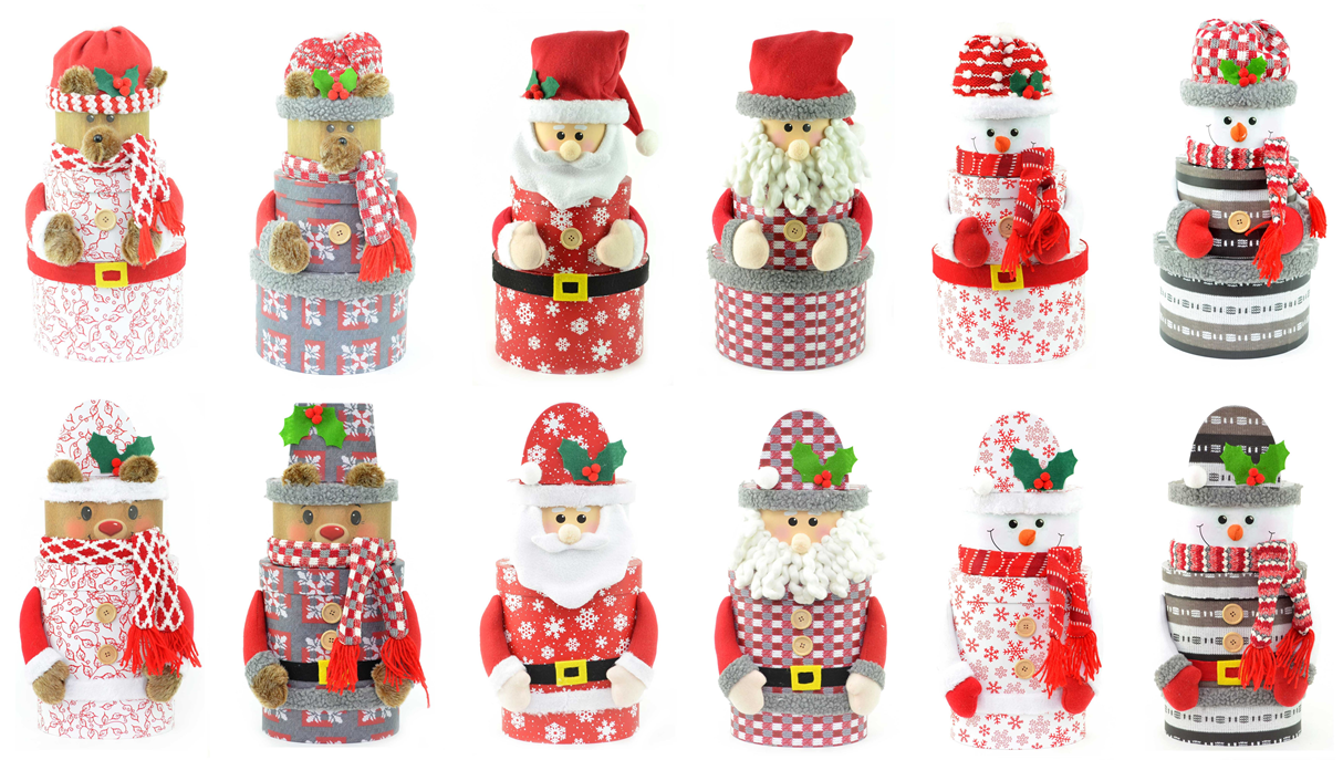Christmas Boxes Personalised Stackable Elf Lid Gift Kids Xmas Nest Present Decor