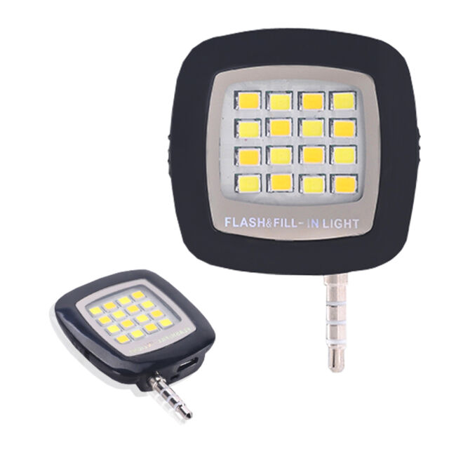 Flash Fill-light Portable 16 LED Camera External Flash Light  For All Phone