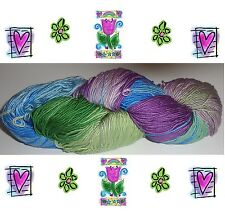 FOR FIBRE ARTISTS LUSTROUS HAND DYED TUSSAH SILK YARN KNITTING #6