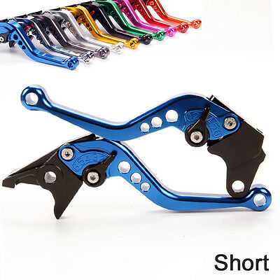 Short Motorcycle Brake and Clutch Levers for Husqvarna 701 Supermoto//Enduro 2017 2018-Blue