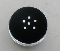 6 White Diamond Loose Rounds 1.8mm Each