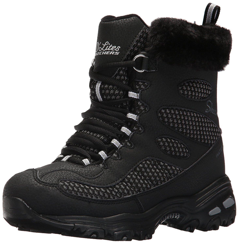 Skechers Women's D'Lites Winter Boot, Black