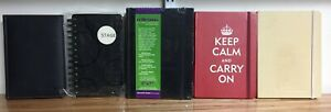 Lot-of-Various-5-034-x-7-034-journals-sketchbook-graph-paper-ruled-pages-VERY-GOOD-con