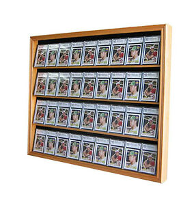 36-Graded-Baseball-Football-Basketball-Card-display-Case-Frame-Cabinet-CC02-OA