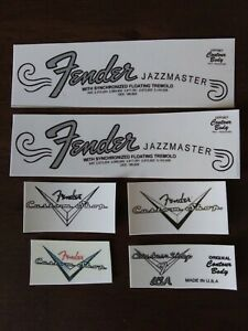vintage reliced T Headstock Logo Decals 4 c s