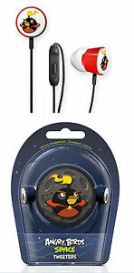 Angry Birds Gear 4 In-Ear Casque stéréo écouteurs tweeters F iPod/iPhone NEUF *