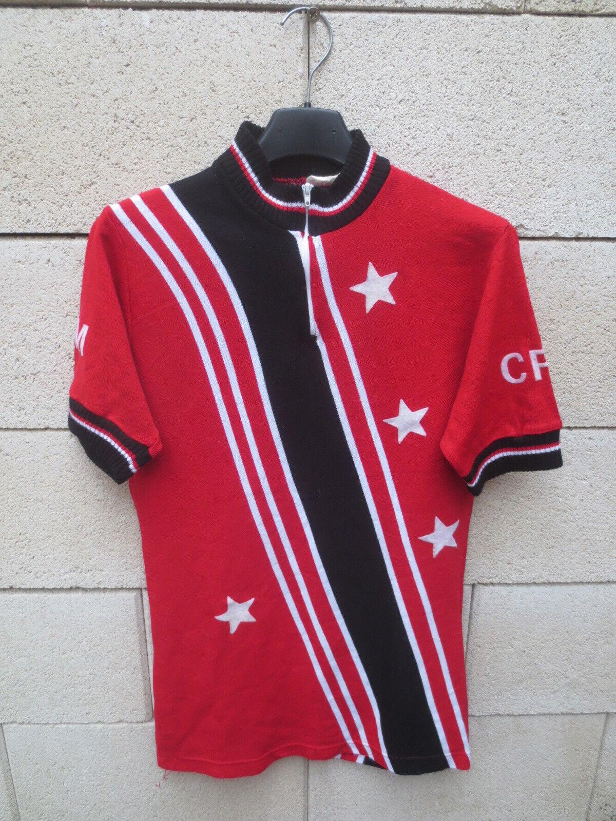 Maillot cycliste CRM Cyclo Randonneur MURET étoile vintage shirt jersey trikot 1