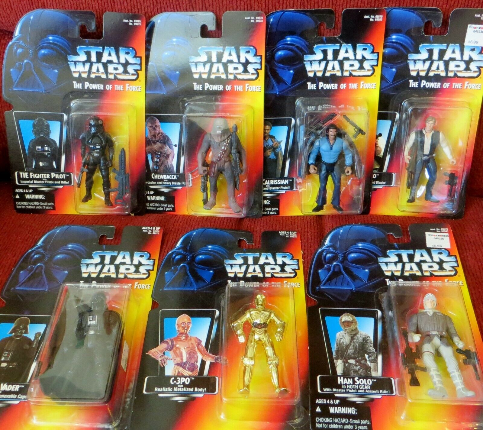 KENNER STAR WARS- THE POWER OF THE FORCE FORCE FORCE - LOT OF 7 FIGURINES -1995 6e94e4