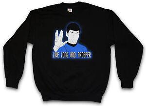 Long Prosper I Live Volcanic Spock Star Greeting Trek Finger Maglione And fTwRdARx