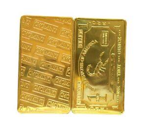 1 oz American Buffalo .999 Pure Titanium Gold Plated Bullion Bar Ti Element