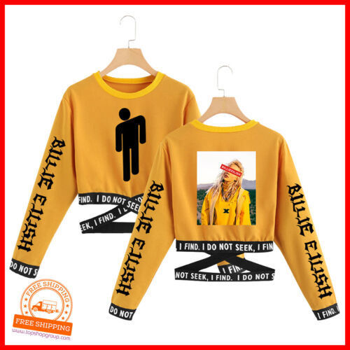 billie eilish Singer Damen Tshirt Sweatshirt Musik Fan Mädchen Fashion Trendy