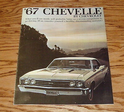 1967 Chevrolet Chevelle Sales Brochure 67 Chevy SS 396 Malibu
