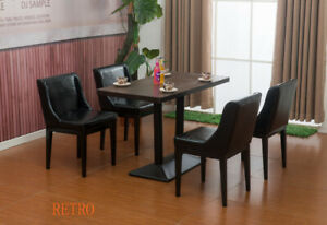 Rectangle-square-Wood-Table-and-4-leather-Chairs-Restaurant-Cafe