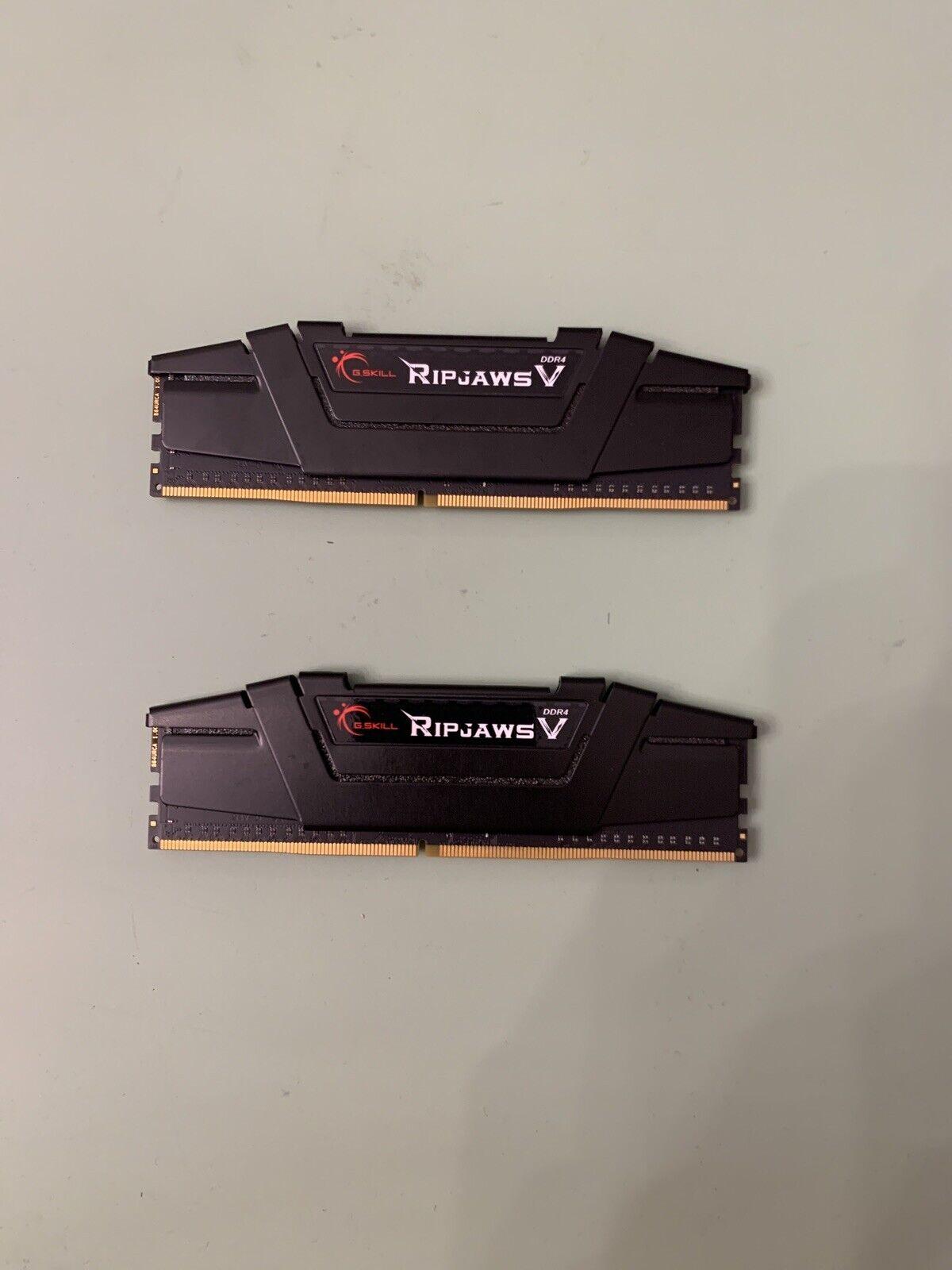 G.SKILL 16GB 2x8GB Ripjaws V Series DDR4 PC4-25600 3200MHz Desktop Memory Model. Buy it now for 75.00