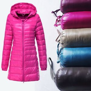 Long Lady Quilted Padded Puffer Bubble lightweight Warm Thick ...