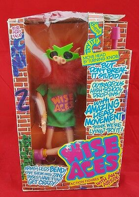 New in Box! 1990 Wise Aces Zap  Animated Bendable Action Figure Puppet Doll