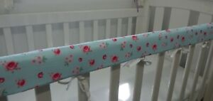 Cot Rail Cover Purple Gingham Crib Teething Pad  x 1