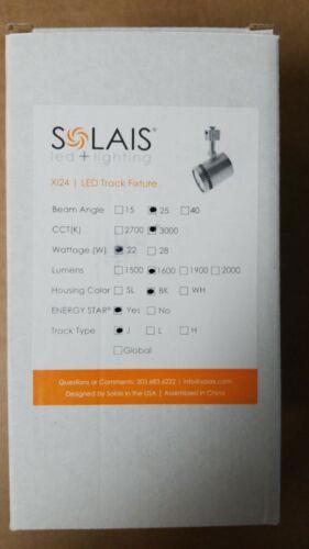 Silver J Type LED Track Light 22watts Solais XI24 25// 3000// 1600// SL