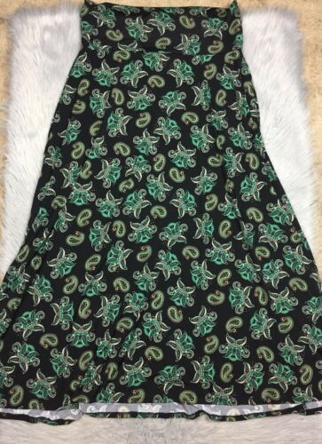 Multicolore Xl Sz Print Lularoe Nero Paisley Skirt Maxi 1wxOnqpzA