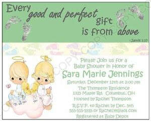 Precious moments baby shower invitations 12 pk personalized any la foto se est cargando precious moments baby shower invitaciones 12 pk personalizada filmwisefo