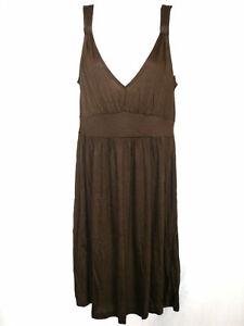 Details zu Damenmode Kleider H&M Damen Kleid Weiche Qualität Dunkelbraun  Gr.9 Top #9