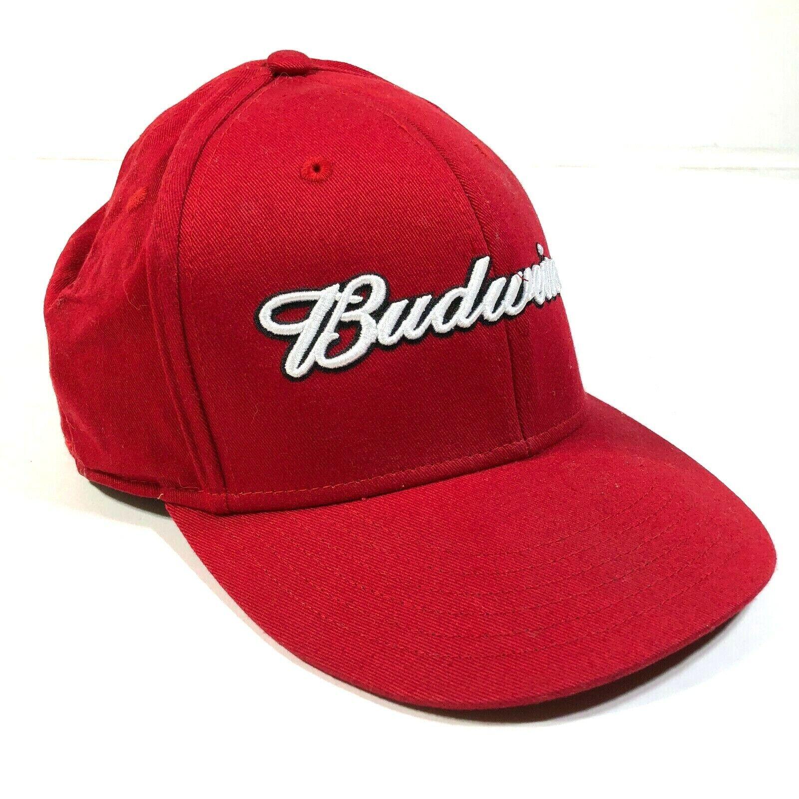 Budweiser Anheuser-Busch Inklusive Rot Gebogen Krempe Hut Kappe Bann Out Script