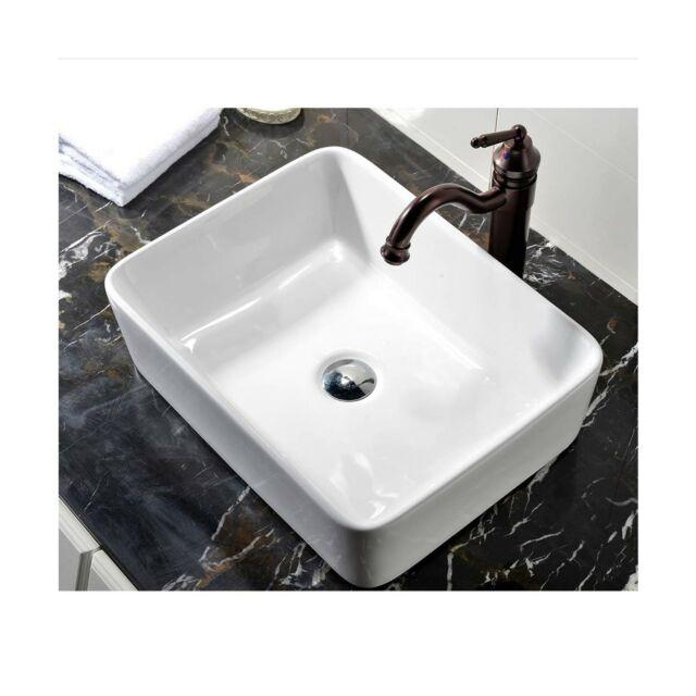 Vccucine Rectangle Above Counter, Bathroom Vessel Vanity