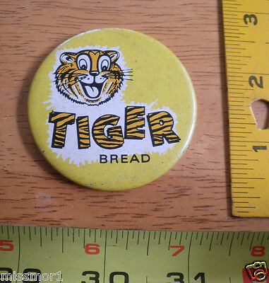 Tiger brand Bread vintage advertising pinback button