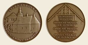 SLOVAKIA-Medal-Wooden-Architecture-Church-UNC-Br