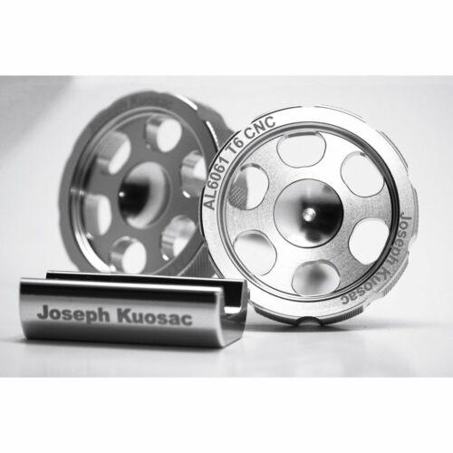 Joseph Kuosac Knob type hinge clamp set for Brompton,lightweight Silver