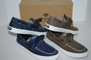 NEW-NIB-SPERRY-TOP-SIDER-WAHOO-2-EYE-CHOCOLATE-BROWN-NAVY-8-5-10-11-12-MEN-SHOES