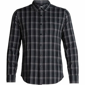 Icebreaker Compass Flannel LS Shirt Mens Thunder//Timberwolf//Plaid